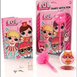 LOL SURPRISE Diary with Pen Set Pink Girls OS